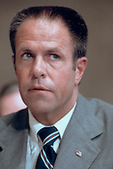 White House Chief of Staff H.R. (Bob) Haldeman  - August 1973 - A break in at the Democratic National Committee headquarters at the Watergate complex on June 17, 1972 results in one of the biggest political scandals the US government has ever seen.  Effects of the scandal ultimately led to the resignation of  President Richard Nixon, on August 9, 1974, the first and only resignation of any U.S. President.