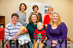 Kerry Carer Of The Year Award 2015 is Sarah Kelleher. Karen Gearon, Area manager for The Carers Association, presentied Sarah Kelleher with The Kerry Carer Of The Year award for 2015 pictured here with Fionn Vanbladel and Sinead Vanbladel . Back l-r  Rachel Fitzgerald, Mary Kelleher, (Sarah's Mom) and Jean  Hollywood at the Carers Association, CDP Rock Street on Tuesday