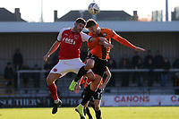 Callum Reynolds of Barnet and Conor McAleny of Fleetwood Town during Barnet vs Fleetwood Town, Emirates FA Cup Football at the Hive Stadium on 10th November 2019
