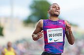 June 15th 2017, Bislett Stadion , Oslo, Norway; Diamond League Oslo Bislett Games;  Andre De Grasse of Canada wins the men's 100m during the IAAF Diamond League held at the Bislett Stadium