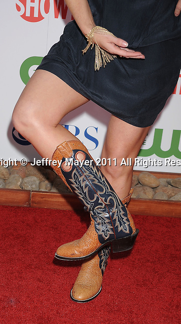 BEVERLY HILLS, CA - AUGUST 03: Kathleen Rose Perkins (boots;bracelet detail) at the TCA Party for CBS, The CW and Showtime held at The Pagoda on August 3, 2011 in Beverly Hills, California.