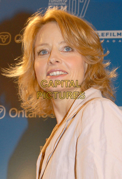 "JODIE FOSTER.The Brave One"" Press Conference during the 2007 Toronto International Film Festival held at Sutton Place Hotel..Toronto, Ontario, Canada, 07 September 2007 .portrait headshot.CAP/ADM/BP.©Brent Perniac/AdMedia/Capital Pictures."