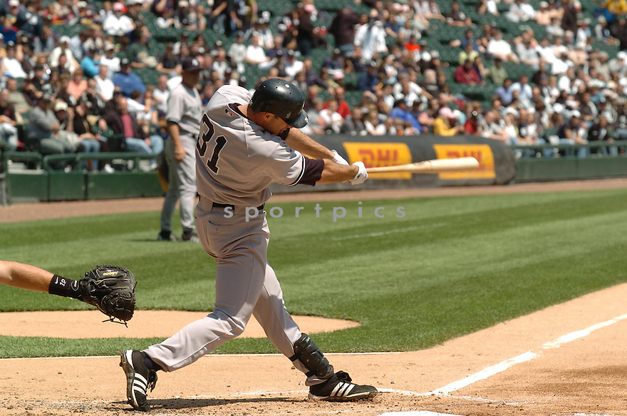 JOSH PHELPS, of the New York Yankees, in action during the Yankees game against the Chicago White Sox in Chicago, Illinois  on May 16, 2007...White Sox win 5-3...DAVID DUROCHIK / SPORTPICS..