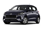Stock pictures of low aggressive front three quarter view of 2020 Hyundai i10 Twist 5 Door Hatchback Low Aggressive