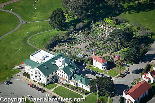aerial photograph Presidio Community Garden Nursery San Francisco California