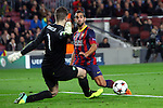 UEFA Champions League 2013/2014.<br /> FC Barcelona vs Celtic FC: 6-1 - Game: 6.<br /> Fraser Forster vs Martin Montoya.