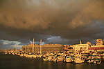 Israel, Tel Aviv-Yafo, sunset at Old Jaffa port