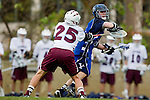 Los Angeles, CA 02/18/11 - Michael Hanover (LMU #25) and Tyler Monteath (BYU #5) in action during the Loyola Marymount - BYU game at LMU.