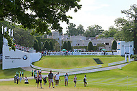 Wentworth club house and 1st tee during the BMW PGA Golf Championship at Wentworth Golf Course, Wentworth Drive, Virginia Water, England on 27 May 2017. Photo by Steve McCarthy/PRiME Media Images.