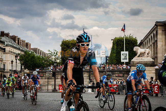 Geraint Thomas (GBR) of Team Sky, Tour de France, Stage 21: Évry > Paris Champs-Élysées, UCI WorldTour, 2.UWT, Paris Champs-Élysées, France, 27th July 2014, Photo by Pim Nijland
