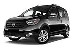 Dacia Dokker Stepway 5 Door Minimpv 2015 low aggressive front three quarter view stock photo