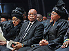 Qunu, South Africa: 15.12.2013: STATE FUNERAL OF NELSON MANDELA<br /> Nelson's widow Graca Machel with former wife Winnie Mandeal and President Jacob Zuma at the <br /> Funeral ceremony for former President Nelson Mandela in Qunu, Eastern Cape, South Africa<br /> Mandatory Credit Photo: &copy;Jiyane-GCIS/NEWSPIX INTERNATIONAL<br /> <br /> **ALL FEES PAYABLE TO: &quot;NEWSPIX INTERNATIONAL&quot;**<br /> <br /> IMMEDIATE CONFIRMATION OF USAGE REQUIRED:<br /> Newspix International, 31 Chinnery Hill, Bishop's Stortford, ENGLAND CM23 3PS<br /> Tel:+441279 324672  ; Fax: +441279656877<br /> Mobile:  07775681153<br /> e-mail: info@newspixinternational.co.uk