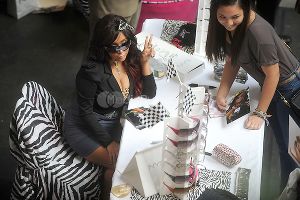 "Snooki pictured at the first stop on the Snooki Sunglass Mall Tour at the Staten Island Mall in Staten Island, NY for her ""Snooki by Nicole Polizzi"" line of sunglasses  on October 22, 2011. © mpi01 / MediaPunch Inc."