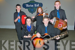 Scor Na nOg Ghairrai Thuaidh : Pictured at the Scor Na nOg Ghairrai Thuaidh held in Marian Hall, Moyvane on Sunday evening last were the Ballydonoghue ceol uirlise group. Front : Moira O'Connell & Jason Foley. Back : Ciaran O'Connell, Cassandara Cremin & Kevin O'Neill.