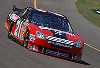 Apr 19, 2007; Avondale, AZ, USA; Nascar Nextel Cup Series driver Ken Schrader (21) during practice for the Subway Fresh Fit 500 at Phoenix International Raceway. Mandatory Credit: Mark J. Rebilas