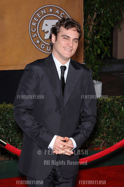 JOAQUIN PHOENIX at the 12th Annual Screen Actors Guild Awards at the Shrine Auditorium, Los Angeles..January 29, 2006  Los Angeles, CA..© 2006 Paul Smith / Featureflash