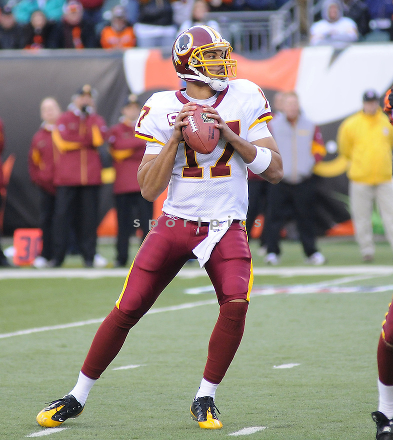 JASON CAMPBELL, of the Washington Redskins , in action  during the Redskins game against the  San Francisco 49ers  on December 14, 2008 in Cincinnati, OH...49ers win 27-24