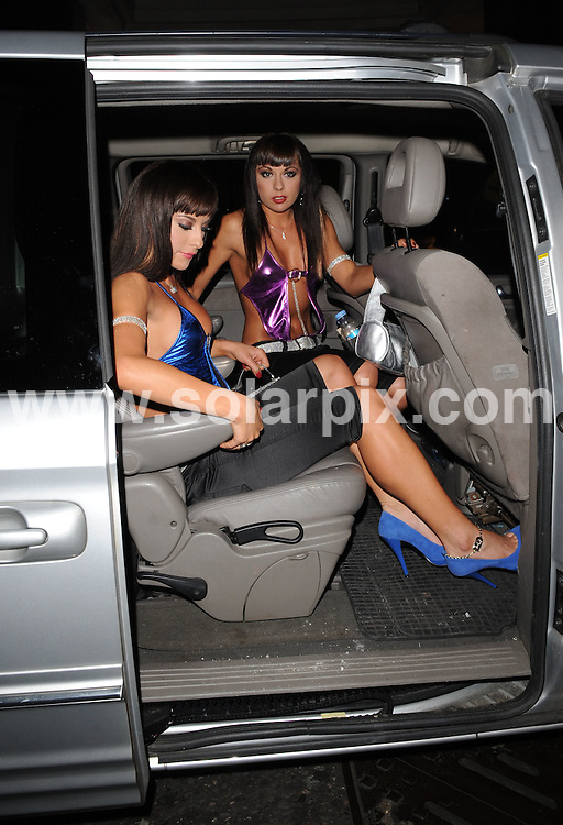 **ALL ROUND PICTURES FROM SOLARPIX.COM**.**WORLDWIDE SYNDICATION RIGHTS**.Celebrities have a night out at Embassy Club, London, UK. 16th October 2008..This pic: Monica and Gabriela Irimia, better known as the Cheeky Girls..JOB REF: 7623 SSD   DATE: 16_10_2008.**MUST CREDIT SOLARPIX.COM OR DOUBLE FEE WILL BE CHARGED* *UNDER NO CIRCUMSTANCES IS THIS IMAGE TO BE REPRODUCED FOR ANY ONLINE EDITION WITHOUT PRIOR PERMISSION*