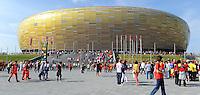 GDANSK, POLONIA, 10 JUNHO 2012 - EURO 2012 -  ESPANHA X ITALIA - Vista da Arena Gdansk momentos antes da partida contra a Espanha em jogo valido pela primeira rodada do Grupo C, na Arena de Gdansk na Polonia neste domingo, 10. (FOTO: GIUSEPPE CELESTE / PIXATHLON / BRAZIL PHOTO PRESS.