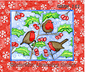 Kate, CHRISTMAS SYMBOLS, WEIHNACHTEN SYMBOLE, NAVIDAD SÍMBOLOS, paintings+++++Christmas page 49 1,GBKM161,#xx# ,red robin