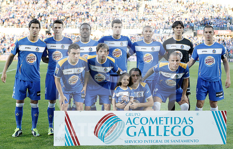 Getafe's team photo during La Liga Match. May 15, 2011. (ALTERPHOTOS/Alvaro Hernandez)
