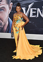 WESTWOOD, CA - OCTOBER 01: Sope Aluko attends the Premiere Of Columbia Pictures' 'Venom' at Regency Village Theatre on October 1, 2018 in Westwood, California.<br /> CAP/ROT/TM<br /> ©TM/ROT/Capital Pictures