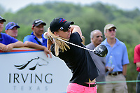 Austin Ernst (USA) watches her tee shot on 9 during round 2 of  the Volunteers of America Texas Shootout Presented by JTBC, at the Las Colinas Country Club in Irving, Texas, USA. 4/28/2017.<br /> Picture: Golffile | Ken Murray<br /> <br /> <br /> All photo usage must carry mandatory copyright credit (&copy; Golffile | Ken Murray)