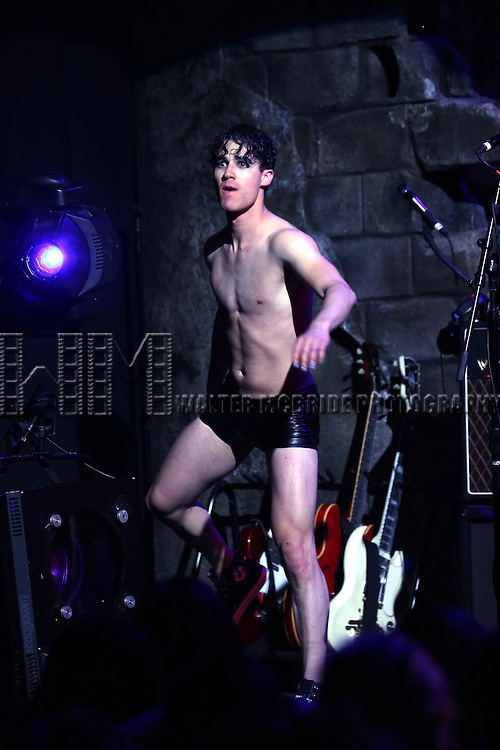 Darren Criss during the debut Curtain Call for 'Hedwig and the Angry Inch' at the Belasco Theatre on April 29, 2015 in New York City.