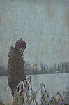 Young girl outdoors in the snow