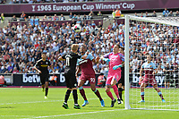 Oleksandr Zinchenko of Manchester City heads clear during West Ham United vs Manchester City, Premier League Football at The London Stadium on 10th August 2019