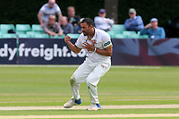Ravi Bopara of Essex celebrates taking the wicket of Daryl Mitchell during Worcestershire CCC vs Essex CCC, Specsavers County Championship Division 1 Cricket at Blackfinch New Road on 12th May 2018