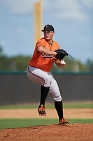 Baltimore Orioles pitcher Zac Lowther (70) delivers a pitch during an Instructional League game against the New York Yankees on September 23, 2017 at the Yankees Minor League Complex in Tampa, Florida.  (Mike Janes/Four Seam Images)