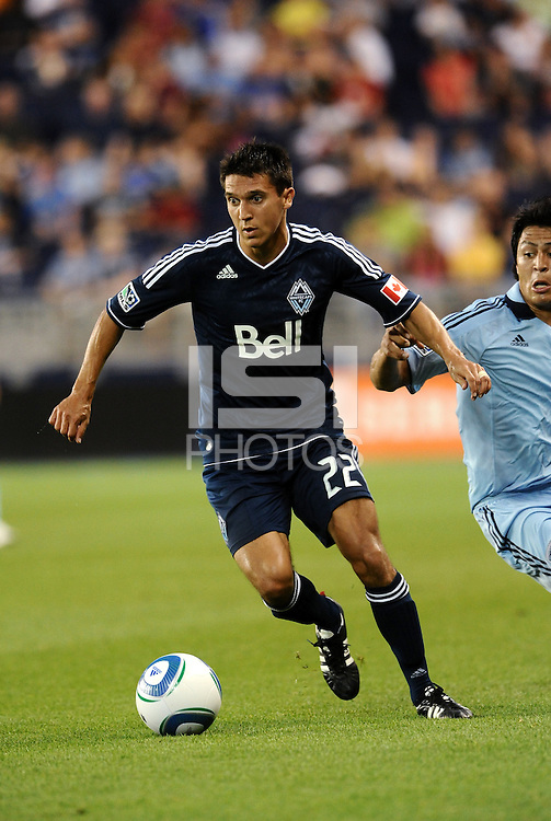 Shea Salinas Vancouver Whitecaps midfielder in action... Sporting KC defeated Vancouver Whitecaps 2-1 at LIVESTRONG Sporting Park, Kansas City, Kansas.