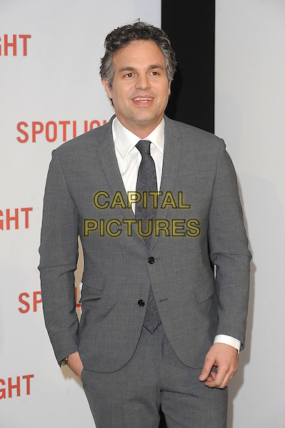 LONDON, ENGLAND - JANUARY 20: Mark Ruffalo attends the UK Premiere of Spotlight at the Washington Hotel and Curzon Mayfair on January 20, 2016 in London, England.<br /> CAP/BEL<br /> &copy;Tom Belcher/Capital Pictures