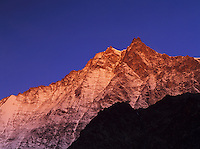 Lenzspitze at sunrise, Saas Fee, Swiss Alps, Switzerland