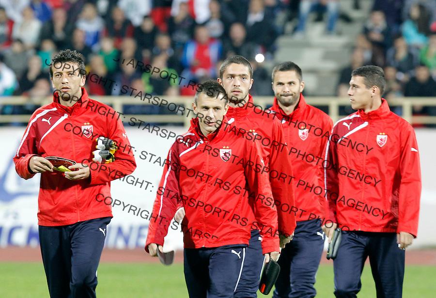 Fudbal Super liga season 2013-2014<br /> Radnicki Nis v Crvena Zvezda<br /> Marko Miric Filip Kasalica<br /> Nis, 26.10.2013.<br /> foto: Srdjan Stevanovic/Starsportphoto &copy;