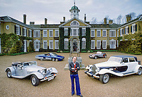 Robert Jankel, founder of Panther Westwind, makers of speciality automobiles with various Panther cars at Polesdon Lacey in 1978