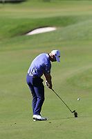 Paul Waring (ENG) plays his 2nd shot on the 18th hole during Friday's Round 2 of the 2018 Turkish Airlines Open hosted by Regnum Carya Golf &amp; Spa Resort, Antalya, Turkey. 2nd November 2018.<br /> Picture: Eoin Clarke | Golffile<br /> <br /> <br /> All photos usage must carry mandatory copyright credit (&copy; Golffile | Eoin Clarke)