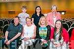 Enjoying the INSPIRED Fashion Show with a difference at Ballyroe Heights Hotel on Friday were Pa Carey, Joan Carey, Sherma Carey, Mary McCarthy, Back l-r Simon Carey, Ciara O'Shea and Carmel  Hubbert
