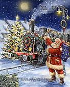 Interlitho, CHRISTMAS SANTA, SNOWMAN, WEIHNACHTSMÄNNER, SCHNEEMÄNNER, PAPÁ NOEL, MUÑECOS DE NIEVE, paintings+++++,santa,train,KL6070,#X# ,Marcello