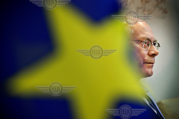 Herman Achille Van Rompuy, a Belgian politician of the Christian Democrat party CD&V and the current President of the European Council, erroneously referred to as president of Europe.