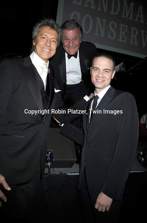 honoree Tommy Tune, Peter Duchin and Jordan Roth