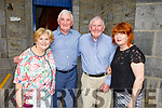 Pricilla Donovan (Tarbert), Ray Lucas (Cork), Michael Coalman (Blarney) and Linda Galvin (Listowel) attending the Two of Clubs play in St Johns Church during the Listowel Writers Week on Thursday.