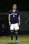 11 November 2015: Notre Dame's Max Lachowecki. The Wake Forest University Demon Deacons hosted the University of Notre Dame Fighting Irish at Spry Stadium in Winston-Salem, North Carolina an Atlantic Coast Conference Tournament Semifinal game and a 2015 NCAA Division I Men's Soccer match. Notre Dame won the game 1-0 and advanced to the ACC Championship final.