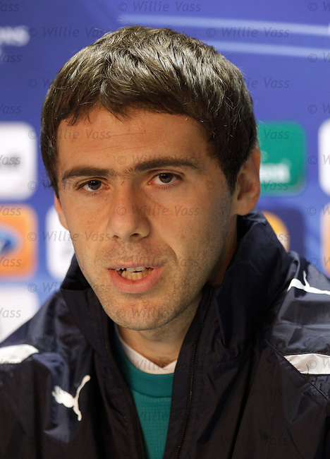 Captain Ivan Ergic the Aussie/Serbian defender at the UEFA Champions League press conference