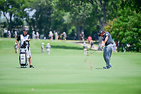 Pat Perez (USA) hits is approach shot on 9 during round 2 of the Dean &amp; Deluca Invitational, at The Colonial, Ft. Worth, Texas, USA. 5/26/2017.<br /> Picture: Golffile | Ken Murray<br /> <br /> <br /> All photo usage must carry mandatory copyright credit (&copy; Golffile | Ken Murray)