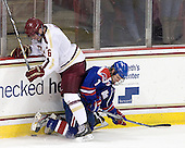 Patrick Wey (BC - 6), Shayne Thompson (UML - 7) - The Boston College Eagles defeated the visiting University of Massachusetts Lowell River Hawks 6-3 on Sunday, October 28, 2012, at Kelley Rink in Conte Forum in Chestnut Hill, Massachusetts.