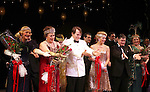 Estelle Parsons, Judy Kaye, Matthew Broderick, Kelli O'Hara, Michael McGrath & Jennifer Laura Thompson.during the Broadway Opening Night Curtain Call for  'Nice Work If You Can Get It' at the ImperialTheatre on 4/24/2012 in New York City.