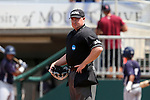 03 June 2016: Home plate umpire Brad Newton. The Nova Southeastern University Sharks played the Millersville University Marauders in Game 13 of the 2016 NCAA Division II College World Series  at Coleman Field at the USA Baseball National Training Complex in Cary, North Carolina. Nova Southeastern won the first game of the best of three Championship Series 2-1.