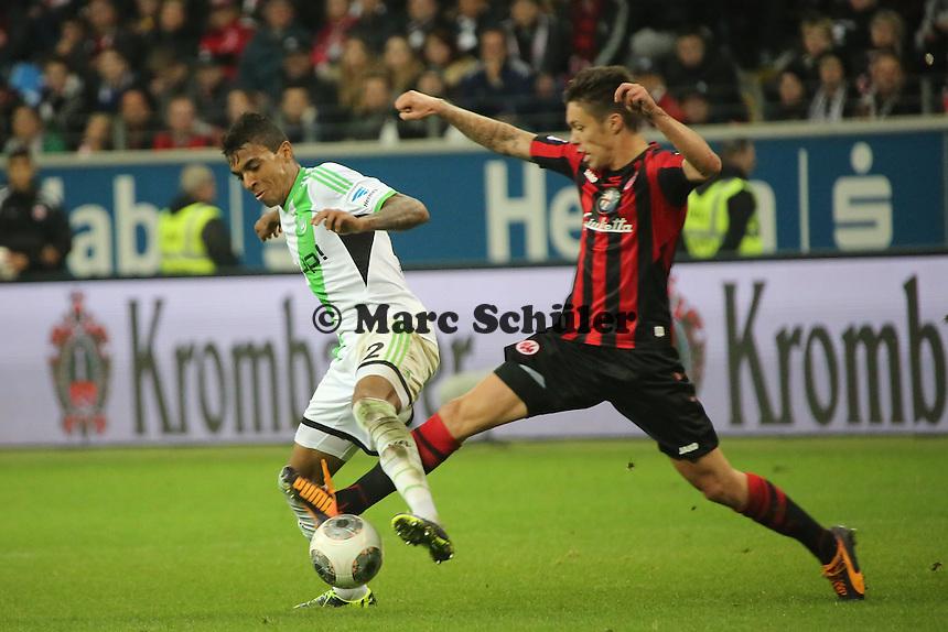Vaclav Kadlec (Eintracht) gegen Luiz Gustavo (Wolfsburg) - Eintracht Frankfurt vs. VfL Wolfsburg, Commerzbank Arena